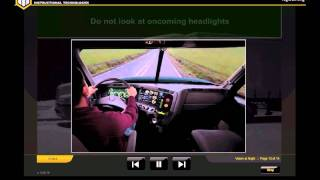 Truck Driving Safety: Night Vision