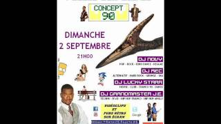 Gambar cover 4 DJs 1 Siècle d'Expérience - PUB INFO - CONCEPT 90 - Dimanche 2 Septembre