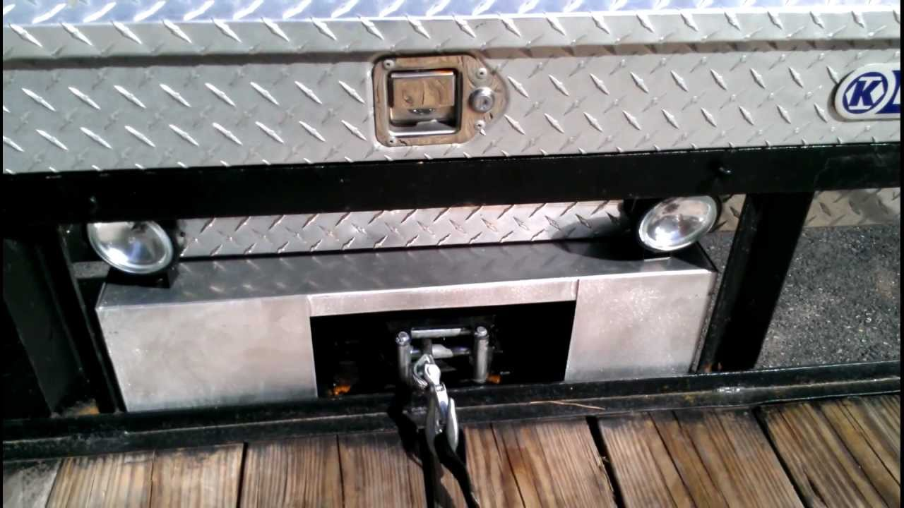 Utility Trailer With Custom Winch Mount Amp Lighting Youtube