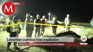 Continúan Los Trabajos De Reparación De Ducto De Pemex En Hidalgo
