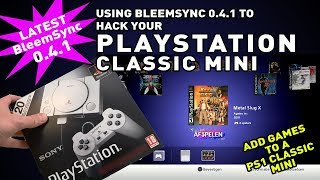 Adding games to Playstation Classic Mini with BleemSync 0.4.1 PS1 Classic Hack