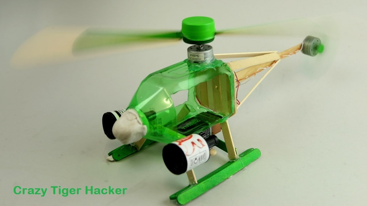 How to make helicopter at home using plastic bottles youtube for Things made from waste plastic bottles