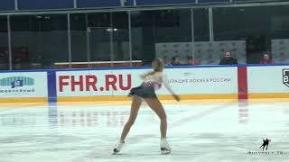 Алина Соловьёва на показательных Кубка Мишина 2018
