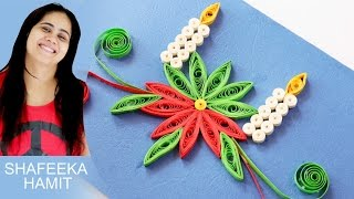 How to make  christmas cards paper quilling