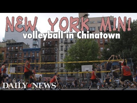'New York Mini' volleyball in Chinatown