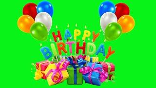 happy birthday green screen background animation | happy birthday chroma key effects | Crazy Editor