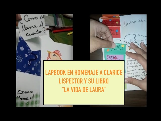 Alumnos y alumnas  del 6ºA confeccionan  un un lapbook en homenaje a la escritora Clarice Lispector.