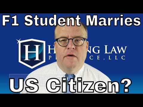 When An F1 Student Marries A US Citizen