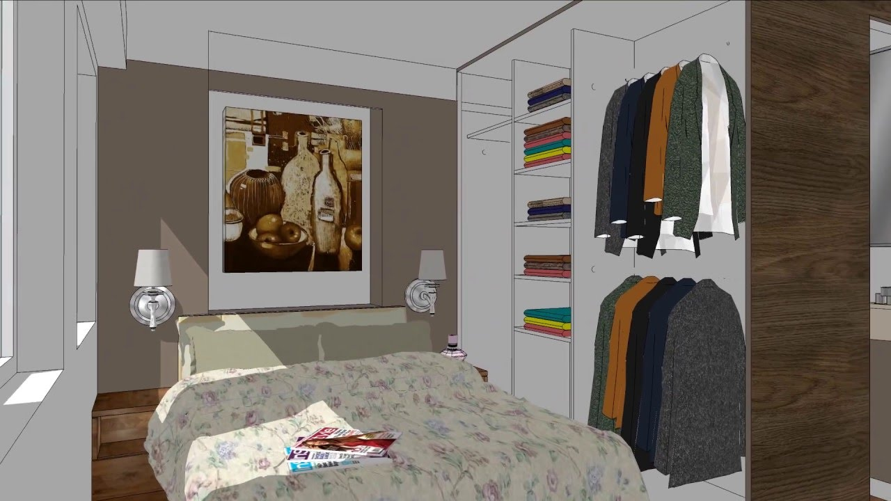 250 sq ft apartment design youtube for 9 ft room design