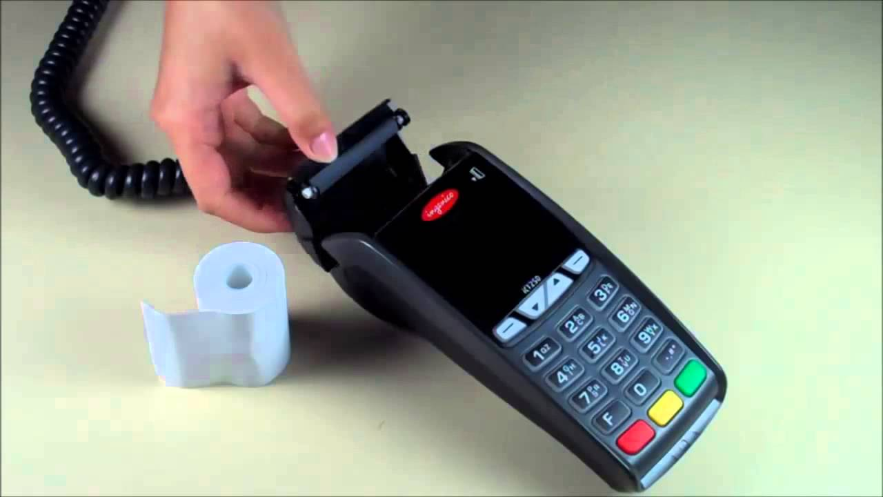 debit machine paper