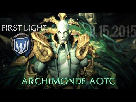 [FIRST LIGHT] - Heroic Archimonde - Boss Fight + WoW Machinima