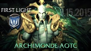 [FIRST LIGHT] - Heroic Archimonde - Boss Fight + WoW Machinima