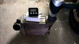 TEST efficiency of Intercooler WATER SPRAY IC Mister Fogger Turbo Wasser LLK s3 GTI rs4