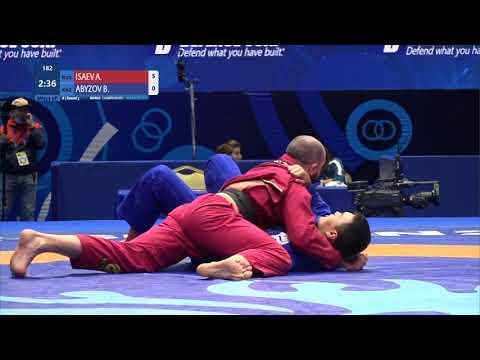 Round 3 Men's GP Gi - 100 kg: A. ISAEV (RUS) v. B. ABYZOV (KAZ)