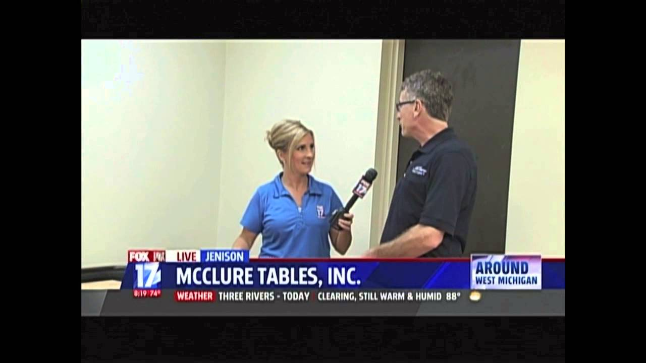 McClure Tables In The News: Fox 17 West Michigan, Pt 3