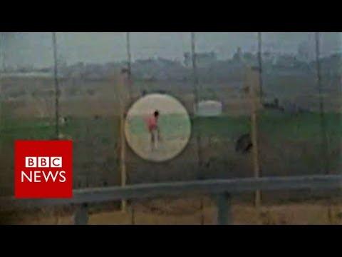 Israeli Soldier Shoots Palestinian - BBC News
