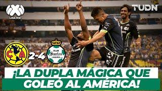 ¡Qué goleada! El día que Oribe y Darwin 'bailaron' al Ame | América 2-4 Santos - CL2014 | TUDN