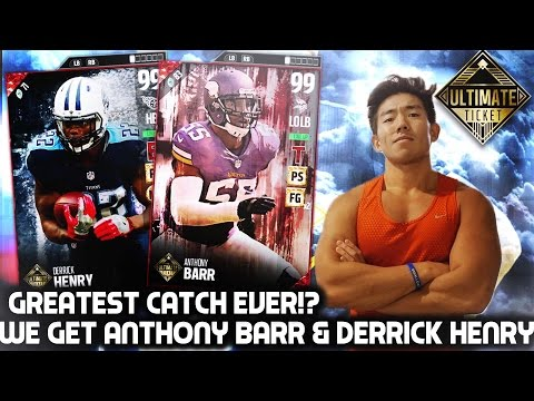 ULTIMATE TICKETS ANTHONY BARR & DERRICK HENRY! GREATEST CATCH EVER!? MADDEN 17 ULTIMATE TEAM