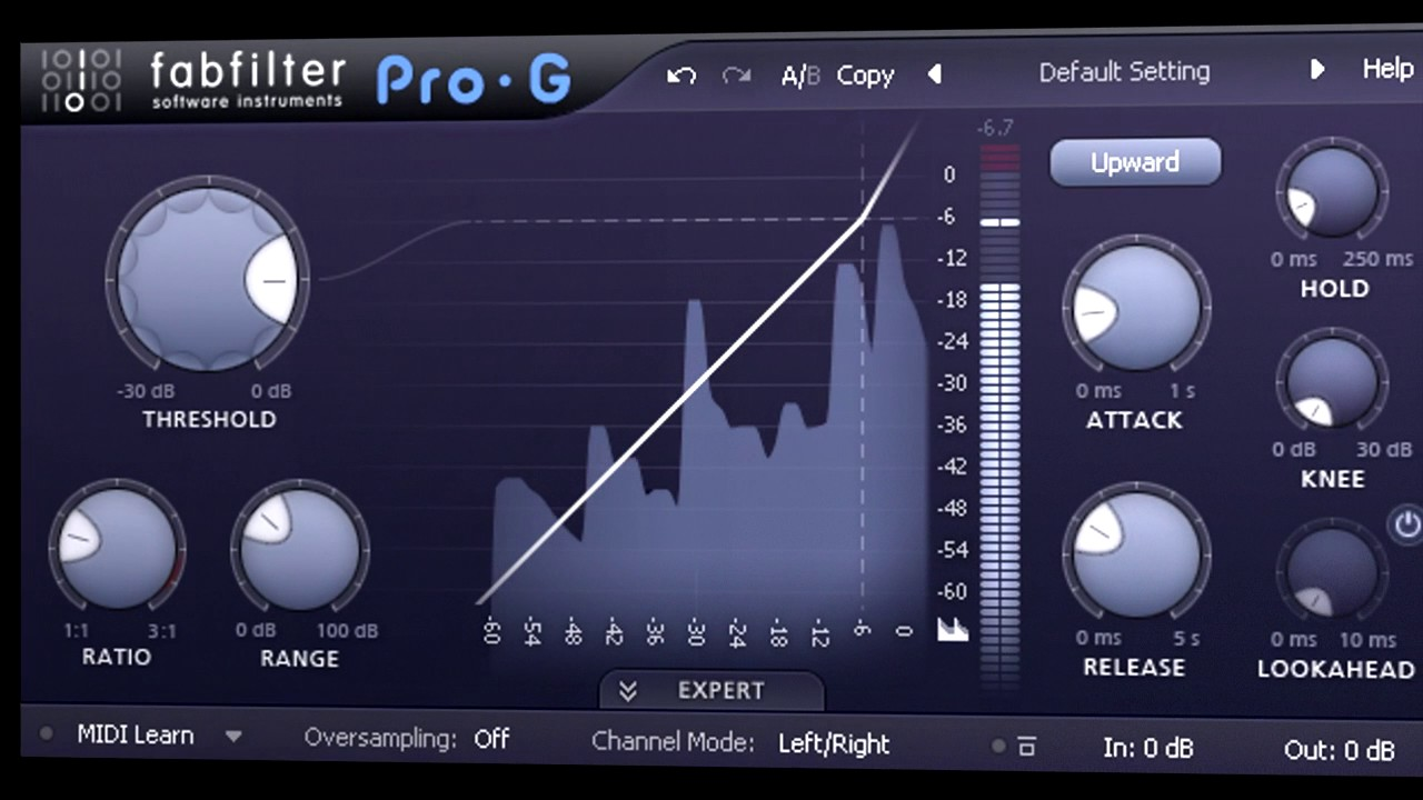 Introduction to FabFilter Pro-G expander/gate