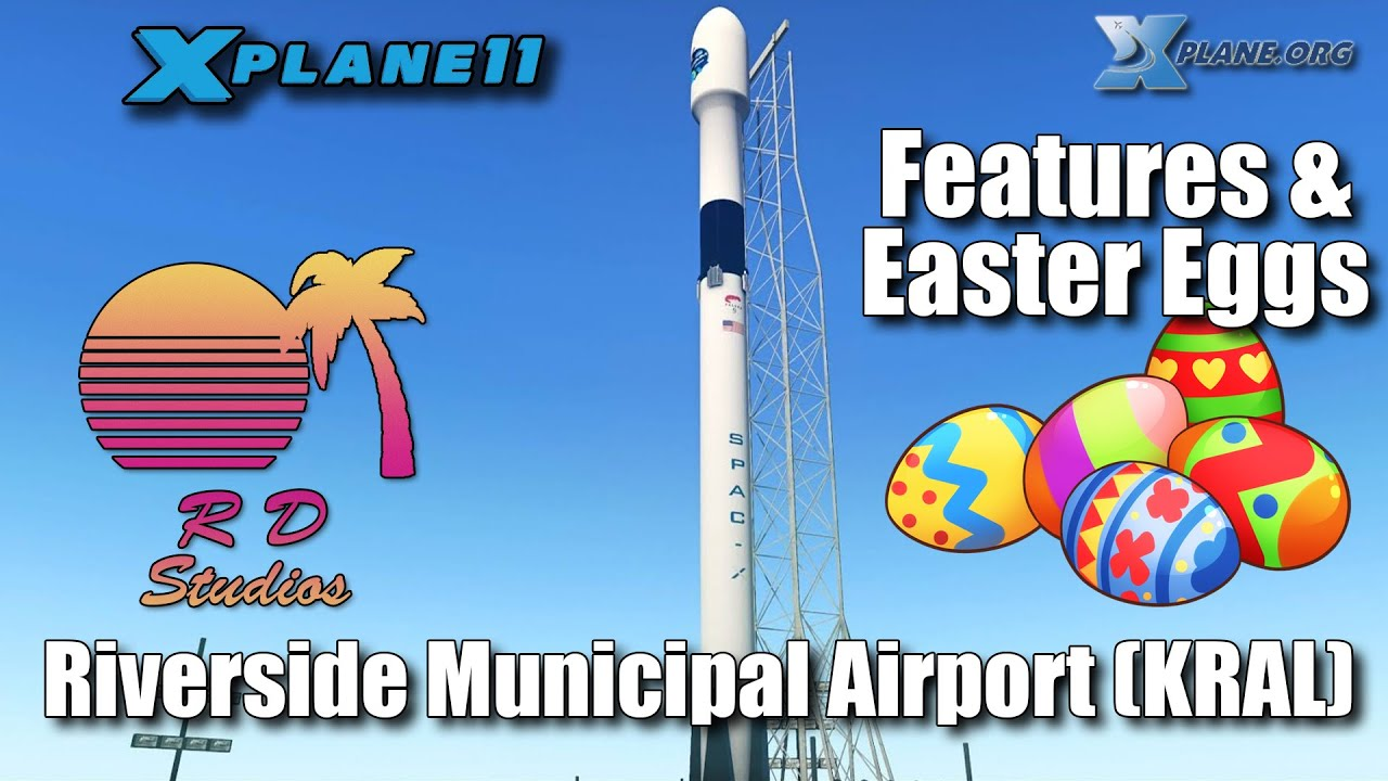 RD Studios Riverside Municipal for XP-11 (Video 2) Unique Features & Easter Eggs
