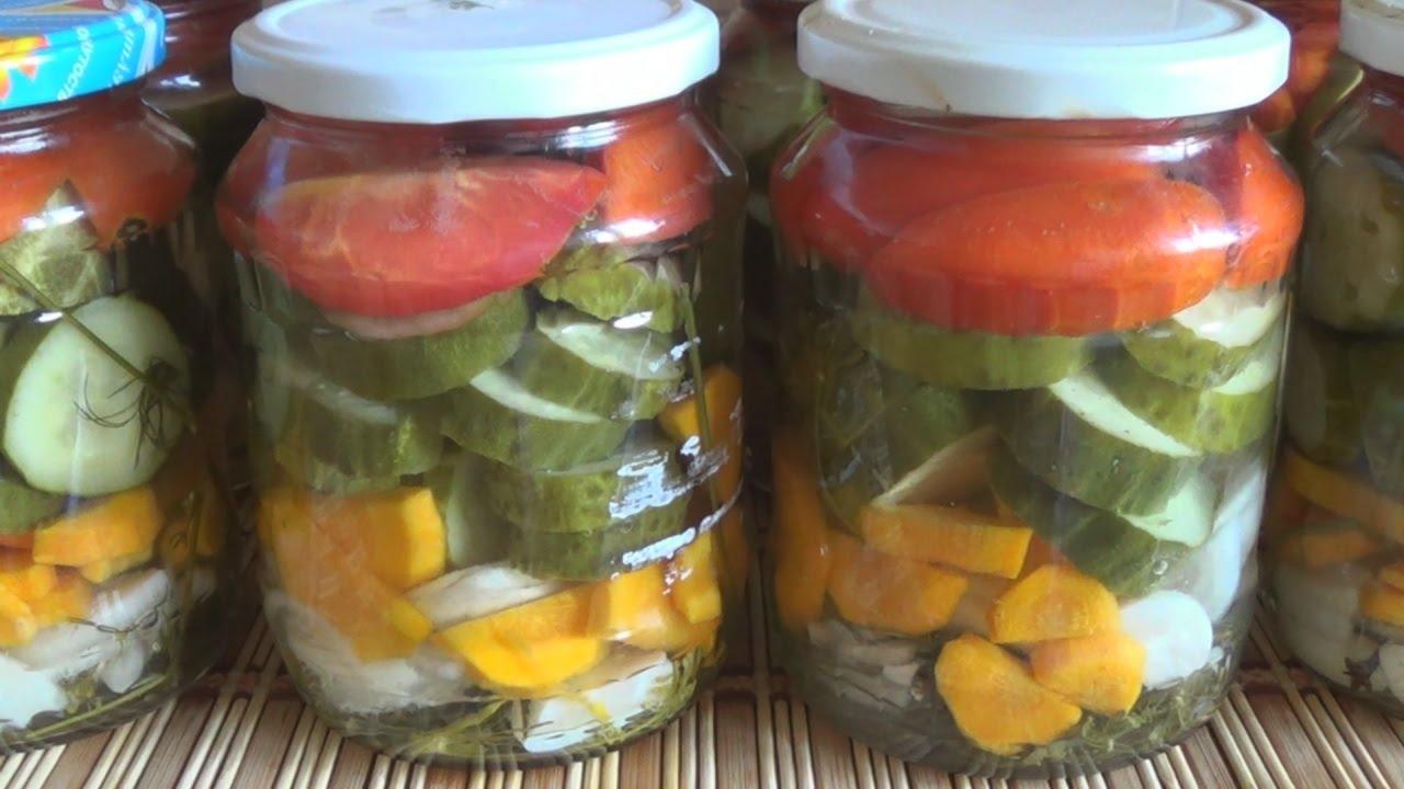 Салат из огурцов и помидоров на зиму. Всегда получается ...