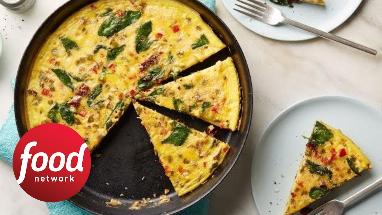 Whole30 veggie packed breakfast frittata food network youtube whole30 veggie packed breakfast frittata food network forumfinder Image collections