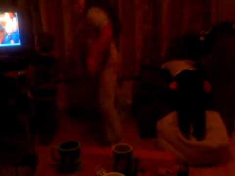 Abi ryan and Darragh dancing to Peter Kay.MP4