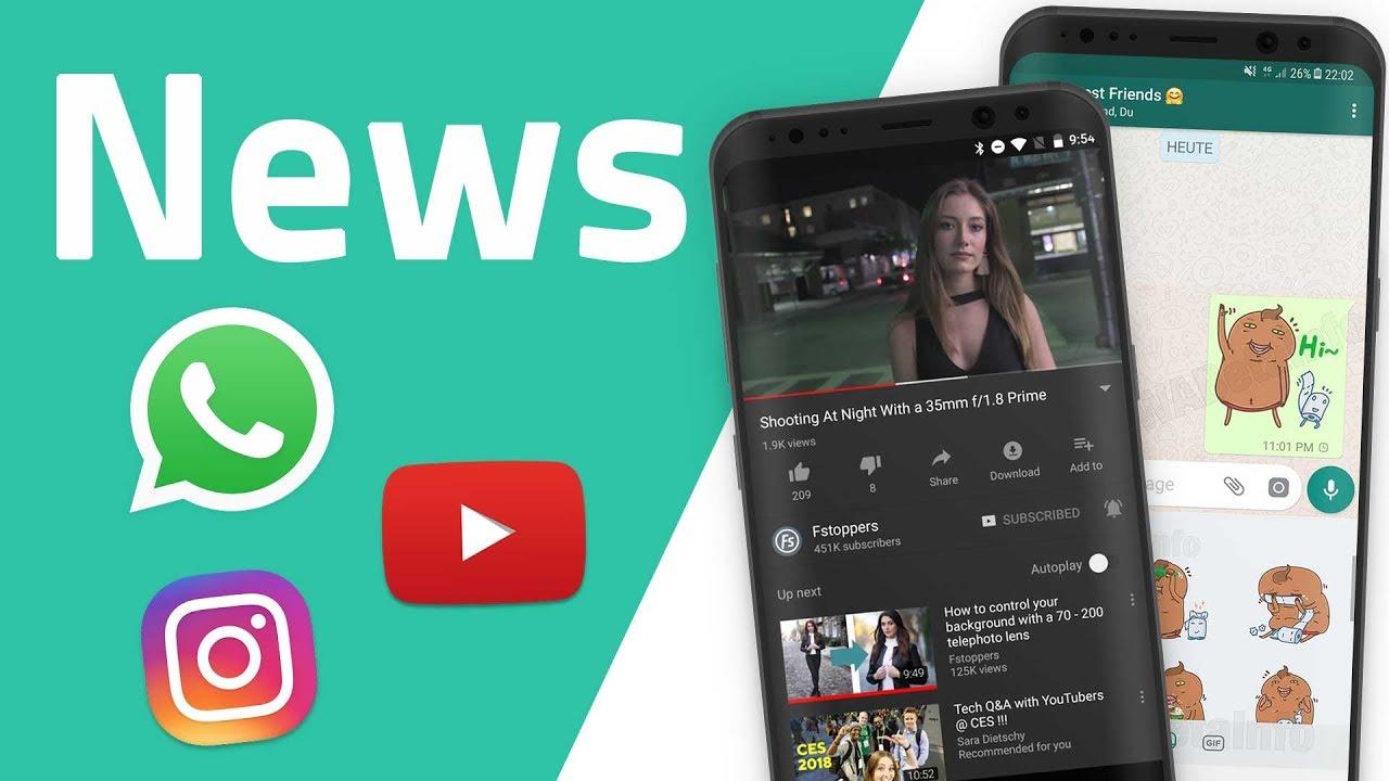 News Zu Whatsapp Youtube Dark Mode Amazontube Instagram