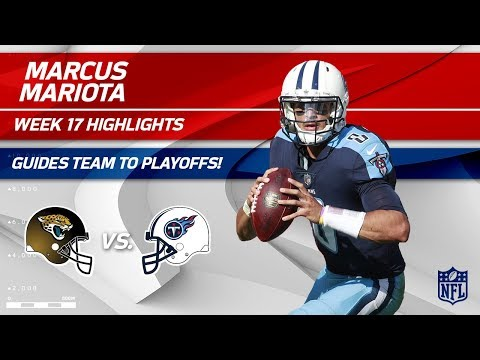 Marcus Mariota Helps Guide His Team to the Playoffs! | Jaguars vs. Titans | Wk 17 Player Highlights