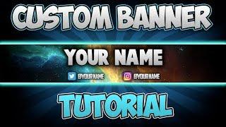 Photoshop CS6/CC Bir YouTube Banner yapmayı (2018)