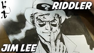 Jim Lee drawing The Riddler