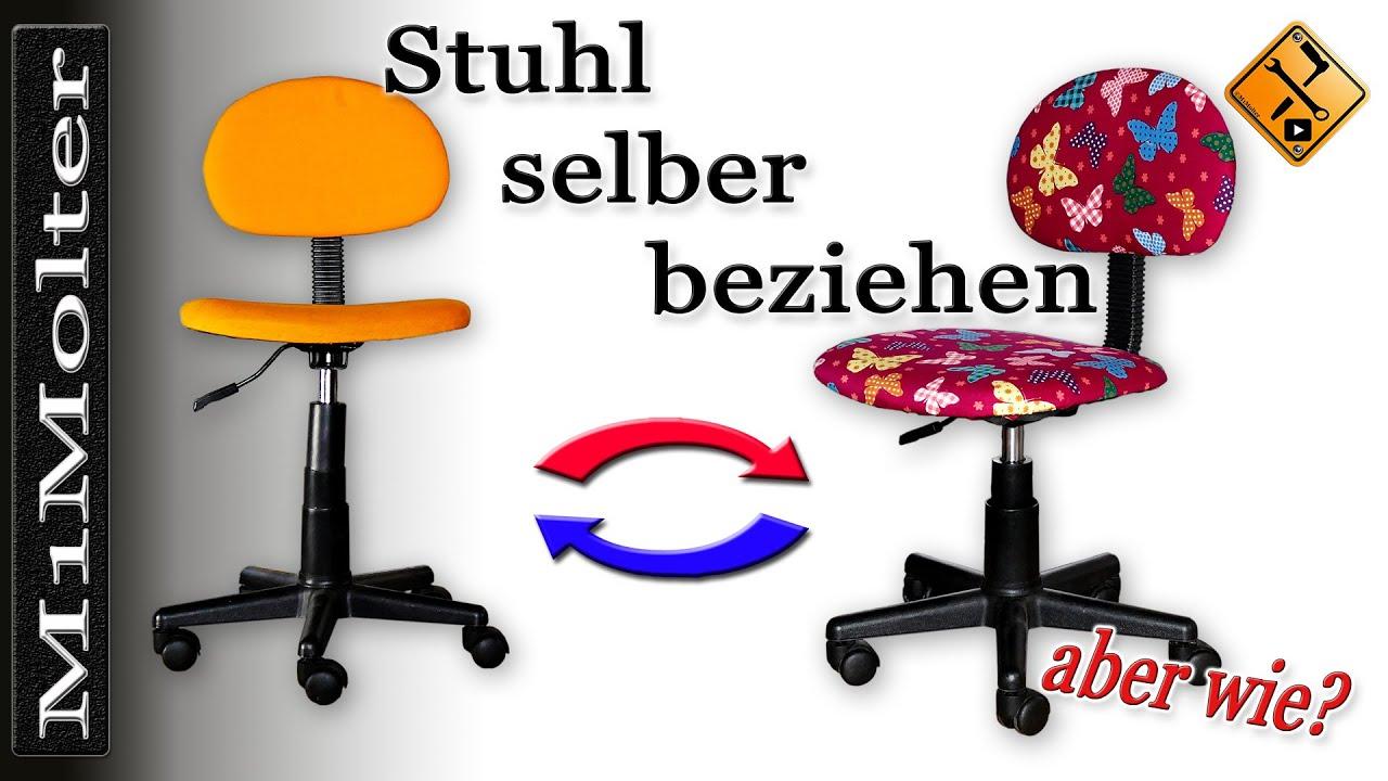 stuhl selber beziehen von m1molter youtube. Black Bedroom Furniture Sets. Home Design Ideas