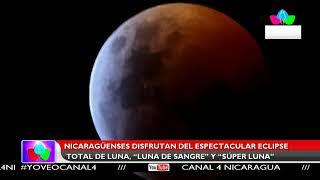 Multinoticias | Nicaragüenses disfrutan del espectacular eclipse total de luna