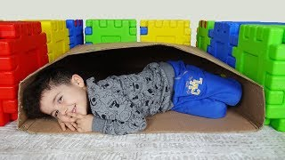 Yusuf Kutunun İçinde Kayboldu! Kids pretend play Hide and Seek