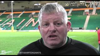 Saints coach Dorian West reacts after Gloucester visit | Rugby Video Highlights