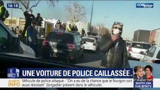 Comment le fourgon de police s'est retrouvé pris au piège au milieu de casseurs à Lyon