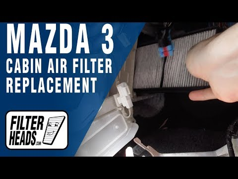 How to Replace Cabin Air Filter 2009 Mazda 3