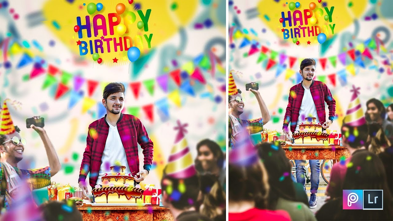 Happy Birthday Editing Picsart Lightroom Photo Editing Tutorial In Hindi Youtube