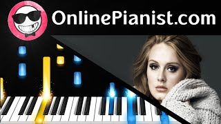 Adele - Water Under the Bridge Piano Tutorial - How to Play