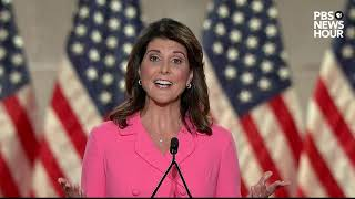 WATCH: Nikki Haley's full speech at the Republican National Convention | 2020 RNC Night 1