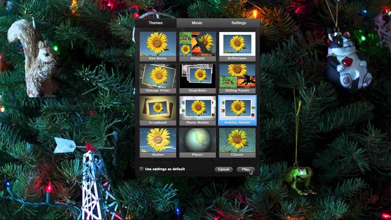 how to create a slideshow in iphoto