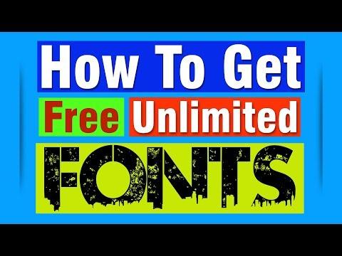 Free Download Unlimited Fonts For Graphic Designer | नि: शुल्क डाउनलोड असीमित फोंट - 2019