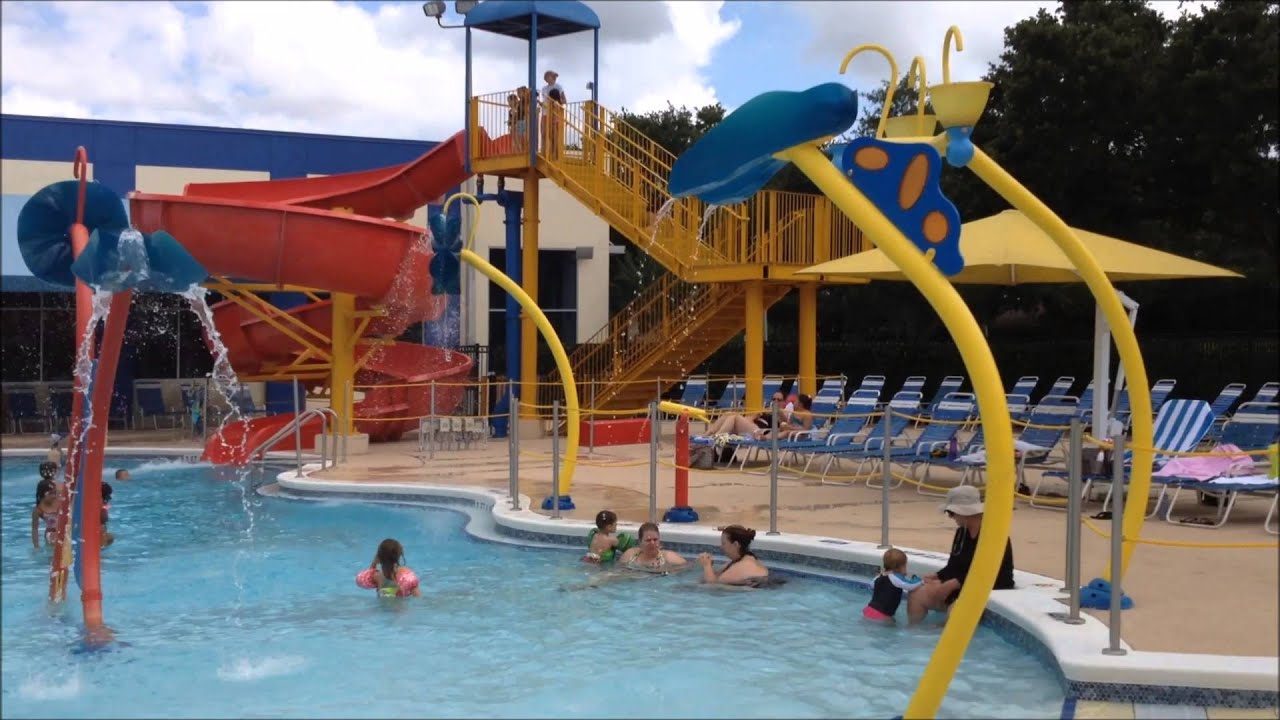 Dr Phillips Ymca Swimming Pools And Water Slide Youtube