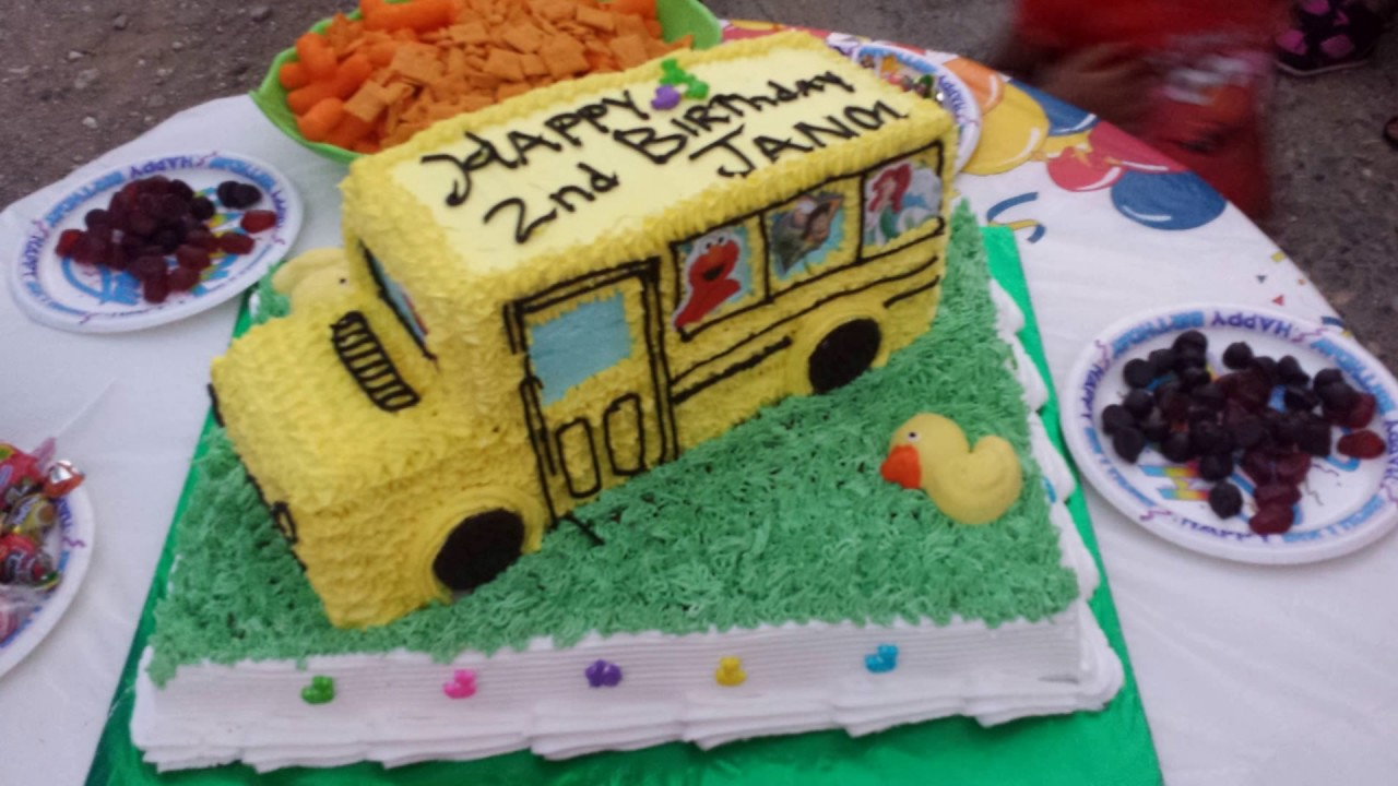 Wheel On The Bus Cake Youtube