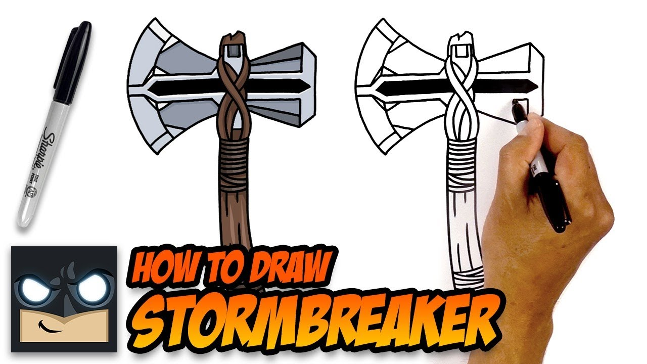 How To Draw Stormbreaker Avengers Step By Step Tutorial Youtube