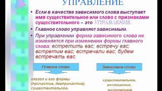 Типы подчинительной связи в русском языке