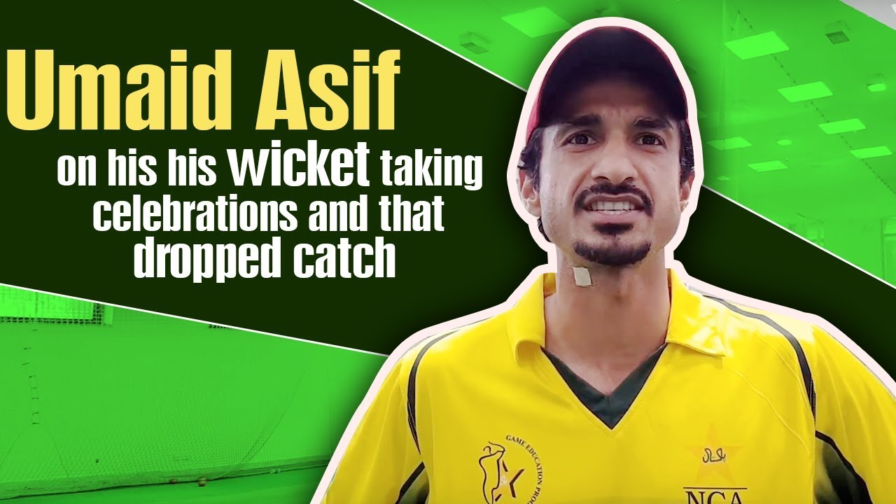 Umaid Asif on his his wicket taking celebrations and that dropped catch |  PSL