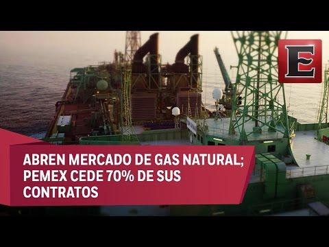 Abren mercado de gas natural; Pemex cede 70% de sus contratos