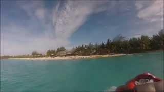 A jetski circuit of Bora-Bora from the St Regis resort