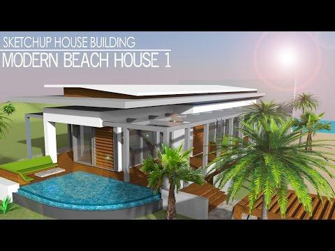 Sketchup Speed build -  Modern Beach House 1